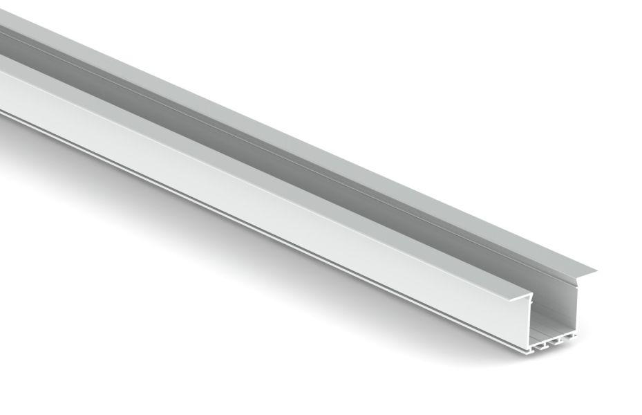 aluminium f profil f r 2 led b nder track f pro 46 25 t22i. Black Bedroom Furniture Sets. Home Design Ideas
